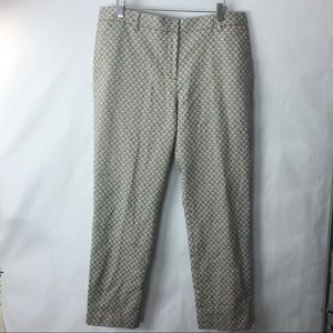 Tory Burch printed metallic dress pants 12